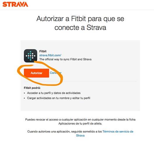 Sincronizar Fitbit con Strava