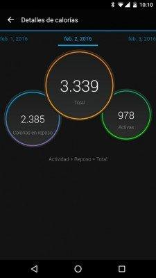 Garmin Vivosmart HR - Comparativa de calorías