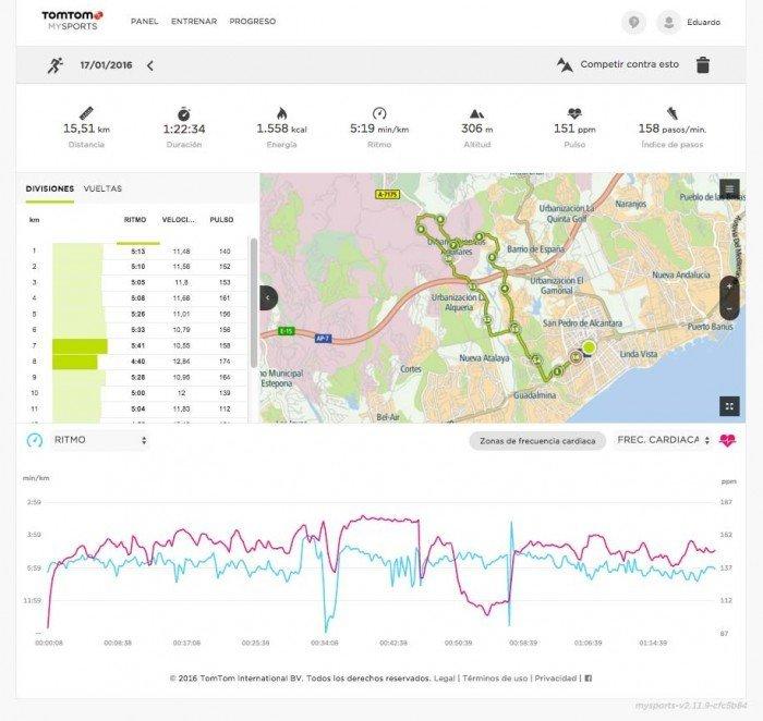 TomTom Runner 2 - Web MySports