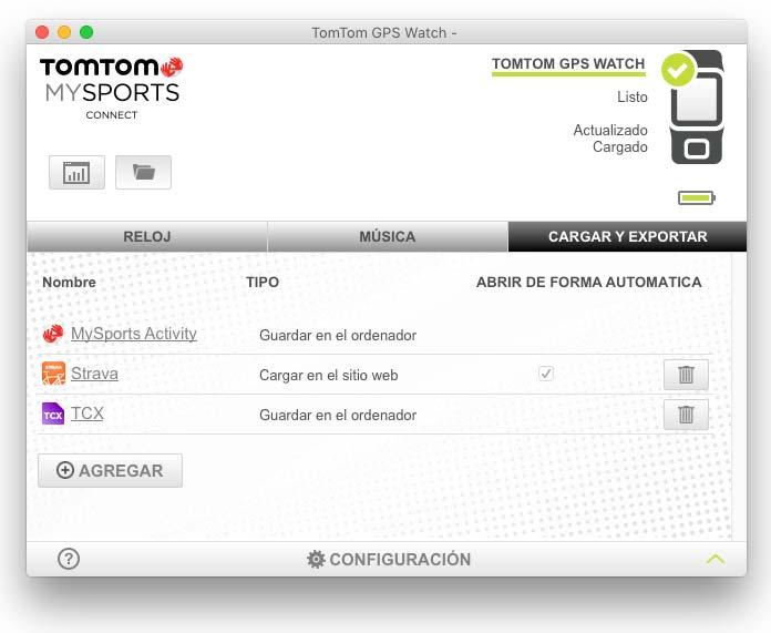 TomTom Runner 2 - Aplicación TomTom MySports