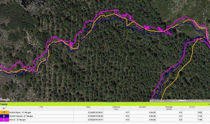 Suunto Ambit3 Vertical - track GPS