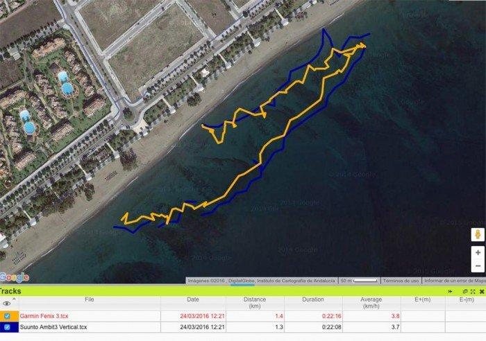 Comparativa en aguas abiertas - Garmin Fenix 3 y Suunto Ambit3 Vertical