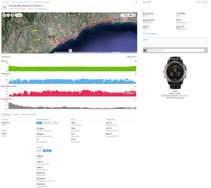 Garmin Connect - Ciclismo