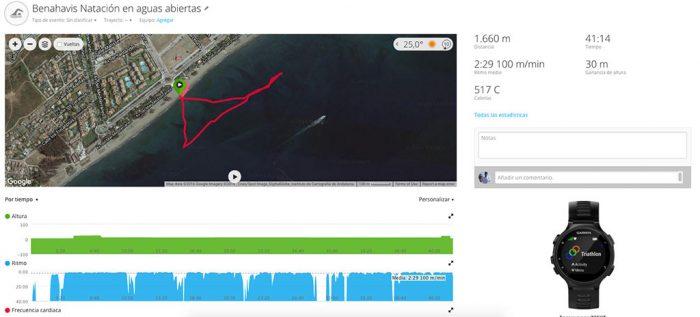 Garmin 735XT - Natación aguas abiertas