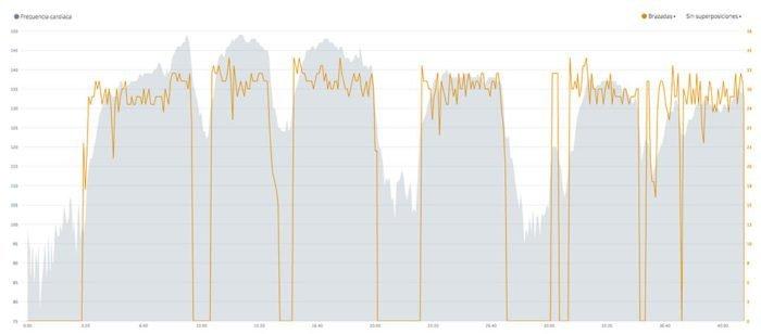 Garmin HRM Tri HRM Swim - datos sincronizados
