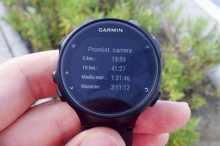 Garmin Forerunner 735XT - Pronóstico de carrera