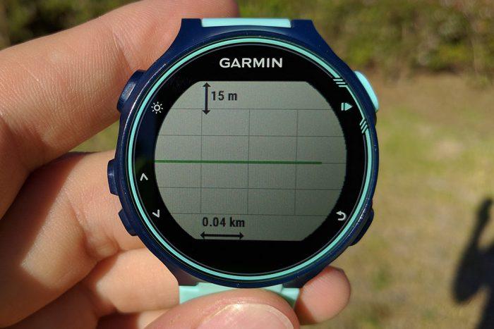 Garmin 735XT - Altimetría segmento