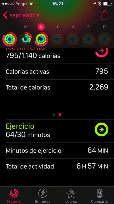 Apple Watch series 2 - Monitor de actividad