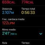 Apple Watch S2 - Natación en aguas abiertas