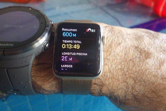 Apple Watch S2 - Natación en piscina
