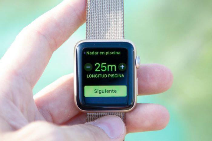 Apple Watch Series 2 - Selección distancia piscina