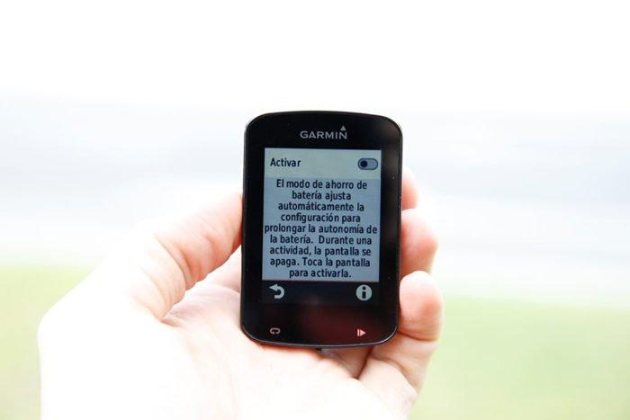 Garmin Edge 820 - Ahorro de batería