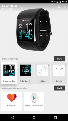 Polar M600 - Aplicación Android Wear
