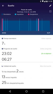 Fitbit Charge 2 - Sueño