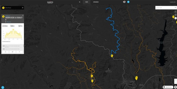Movescount - Rutas y mapa de calor