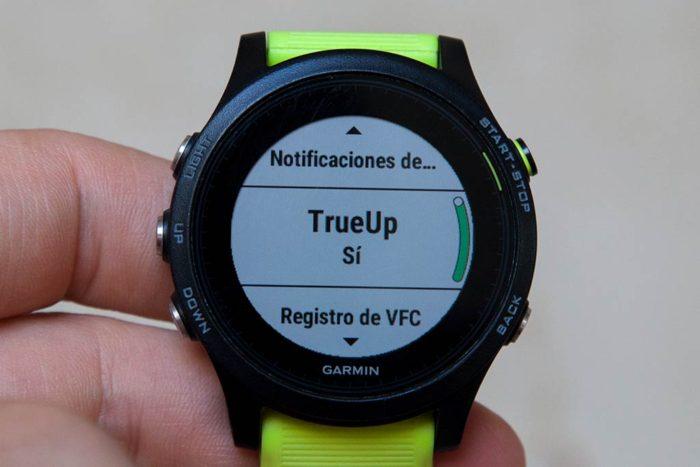 Garmin Physio TrueUp - En el reloj