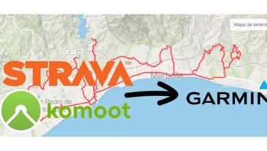 Foto de Garmin añade sincronización automática con rutas de Strava y Komoot