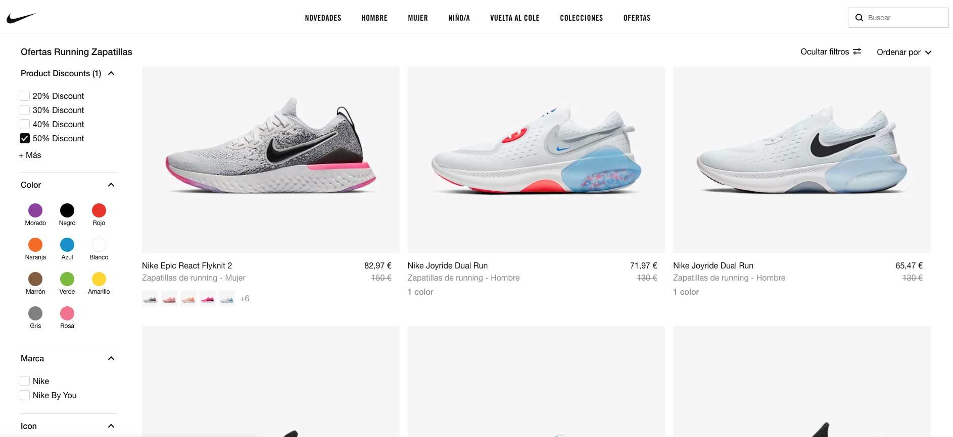 dramático Goma de dinero A pie  Promoción especial zapatillas Nike. Hasta 50% de descuento - Correr una  Maratón - Review de Garmin, Polar, Suunto, Fitbit...