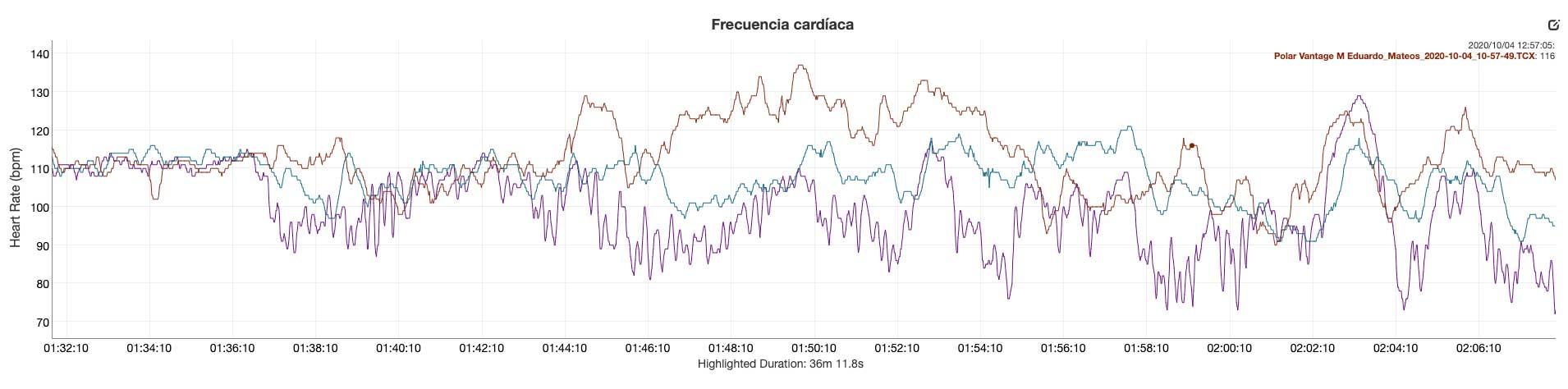 Comparativa sensor de pulso óptico FR745