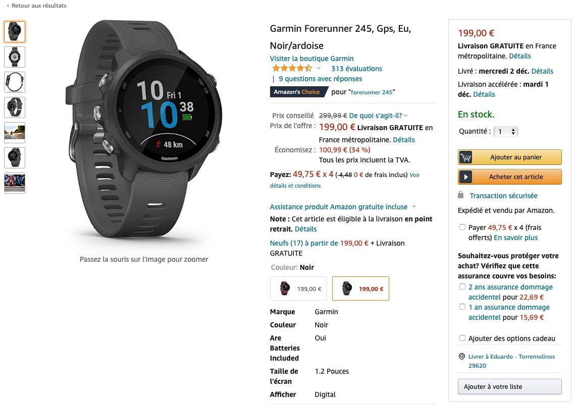 Black Friday Garmin Forerunner 245