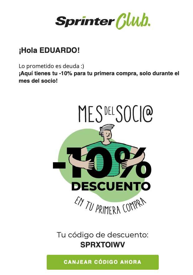 Descuento Sprinter 10%