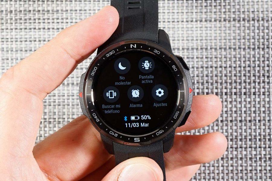 Honor Watch GS Pro - Menú de acceso rápido
